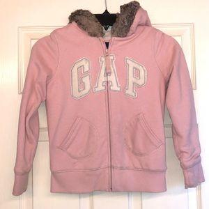 Girls' Gap Zip Hoodie w/Fur Lining